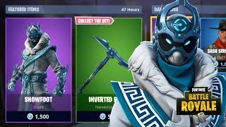 NEW SNOWFOOT SKIN + INVERTED BLADE PICKAXE NEW FORTNITE ITEM SHOP (Fortnite Battle Royale)