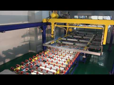 Laminated glass production line process