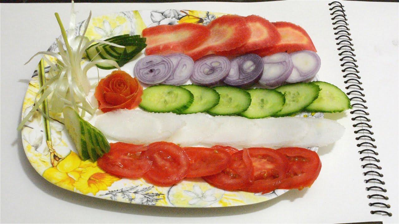 Very easy salad Decoration#4 - YouTube