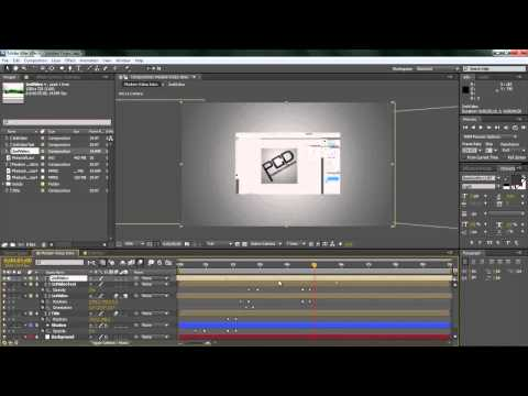 After Effects CS4, CS5 Tutorial: Creating a Modern Video Int