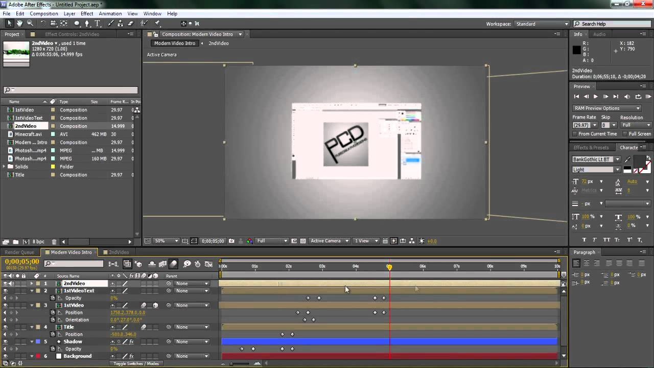 After Effects CS4, CS5 Tutorial: Creating a Modern Video Intro ...