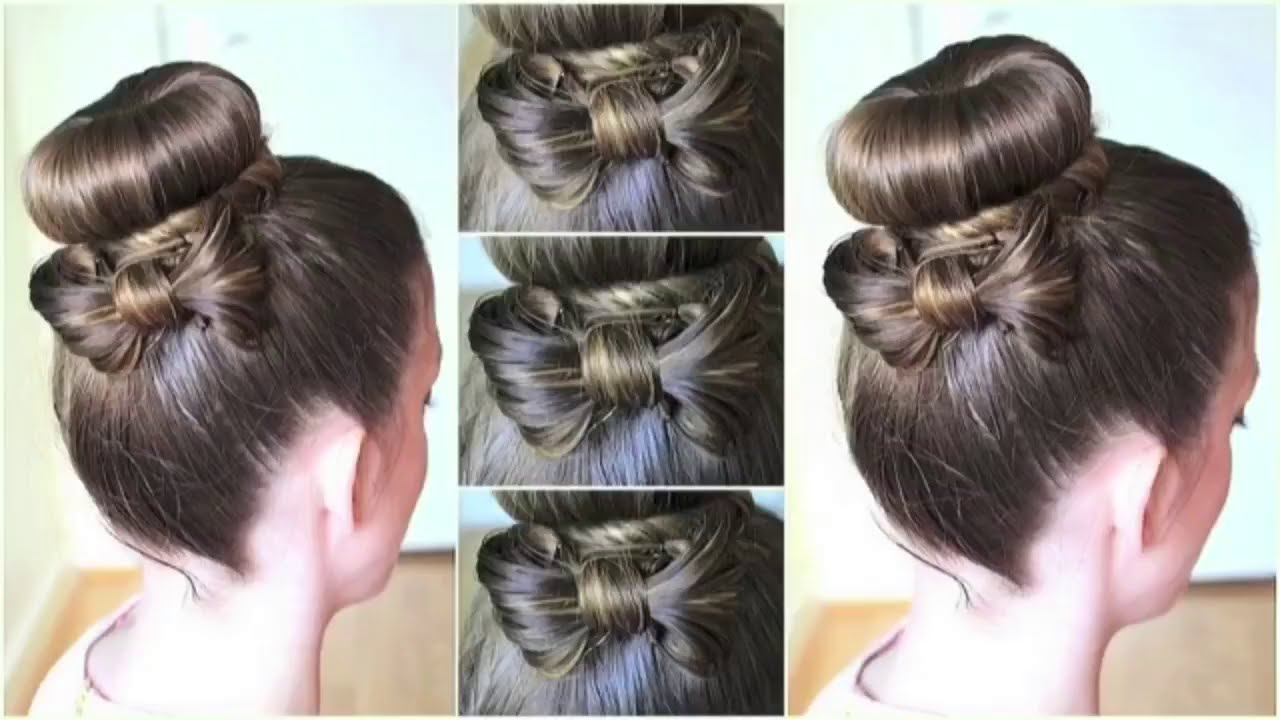 A Pretty Hair Bow To Spice Up A Bun Hairstyle Youtube