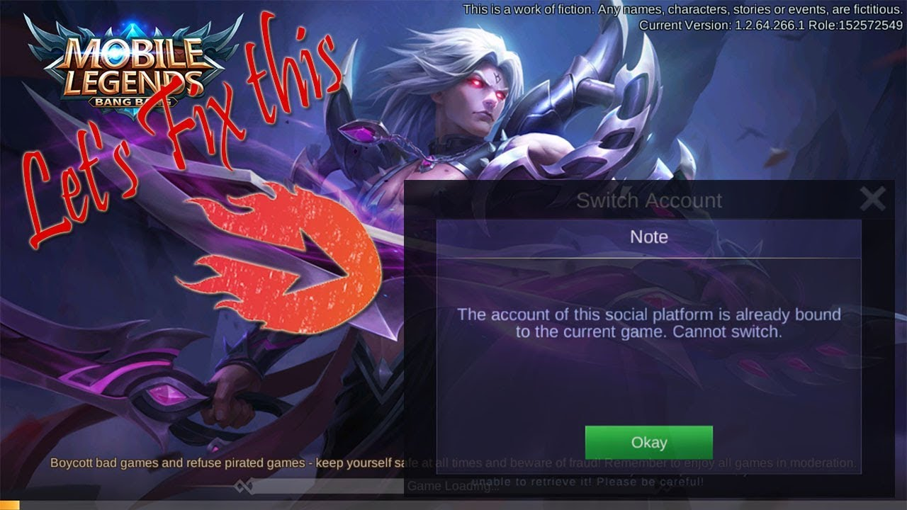 How to switch account with Google Play Games   Mobile Legends
