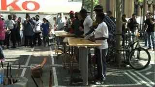 Уличные музыканты во Франкфурте, Германия