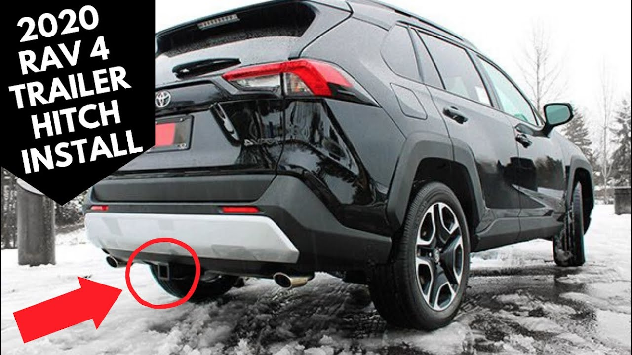 with this tow hitch - anyone can install a 2020 toyota rav4 trailer hitch -  youtube  youtube