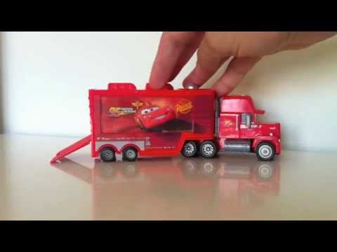 Cars 2 Deluxe Mack Transporter Quick Changers Disney unboxing diecast review