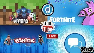 200.000 was a LIVE CELEBRATION! ROBLOX, Fortnite, Minecraft and chat