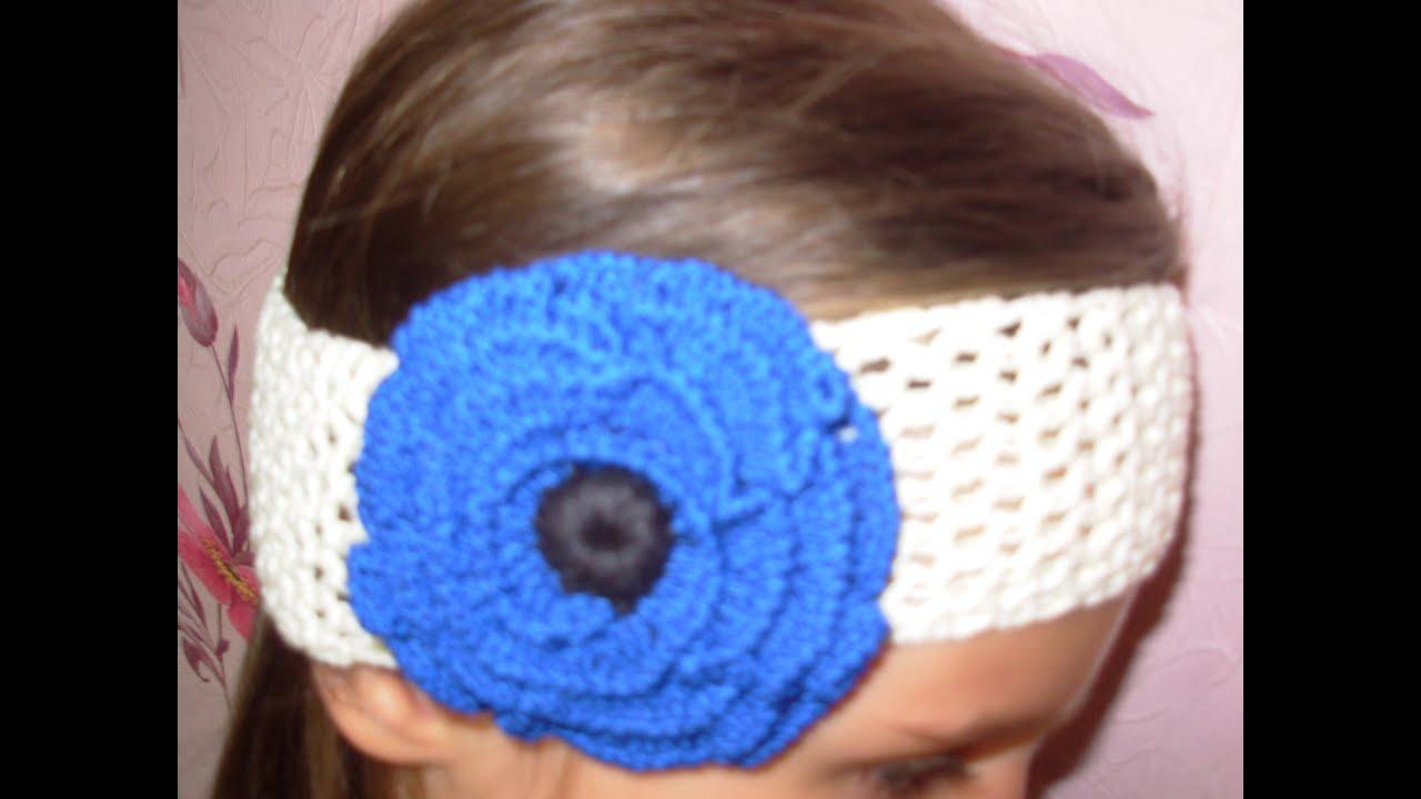 схема повязка крючком для девочки