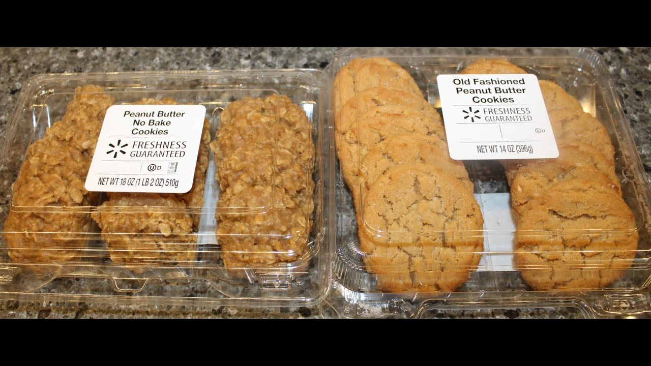 Walmart Peanut Butter No Bake Cookies Old Fashioned Peanut Butter Cookies Review Youtube