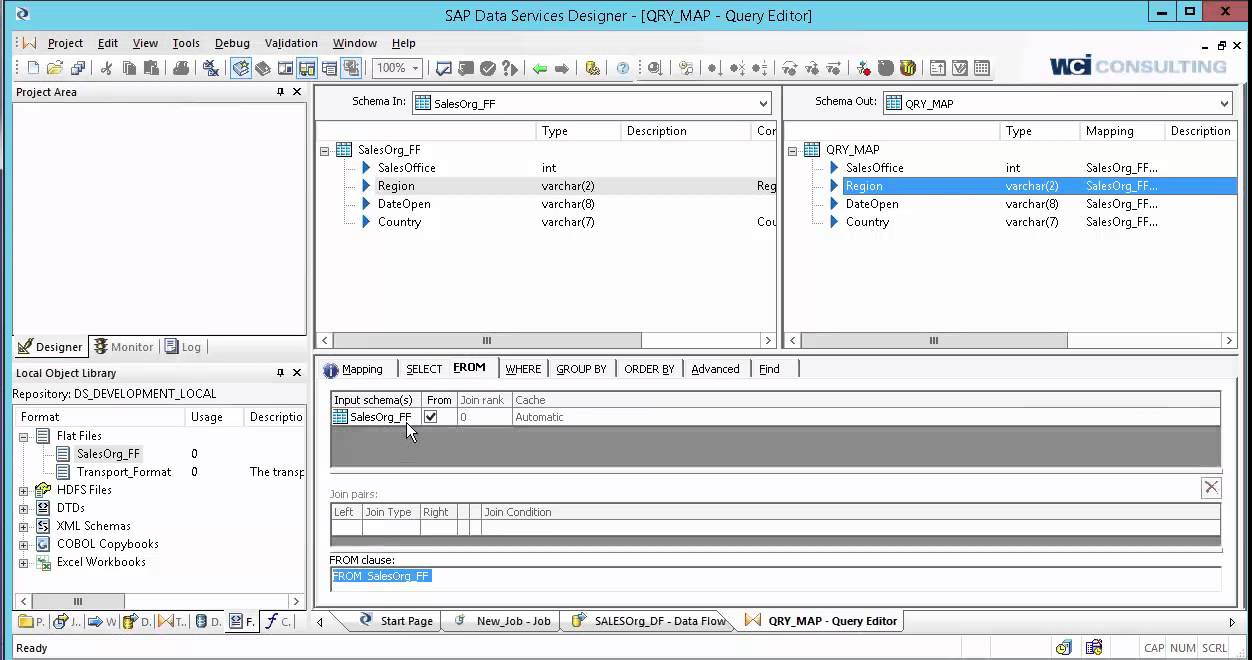 Creating A Job In SAP Data Services YouTube - Sap data mapping