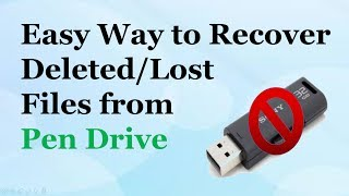 Pen Drive File Recovery - How to Recover Deleted Files from Pen Drive