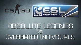 overrated individuals vs Absolute Legends - Ro32 RaidCall EMS One Cup 2 - Counter-Strike:GO  HD