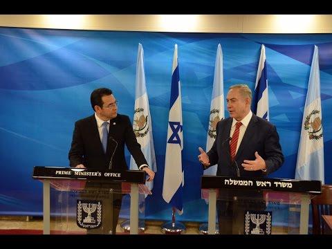 """Netanyahu """"En toda ciudad israelí hay una calle Guatemala"""""""