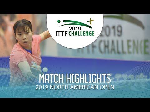 Qi Fei Vs Katherine Morin   2019 ITTF North American Open Highlights (U21-R32)