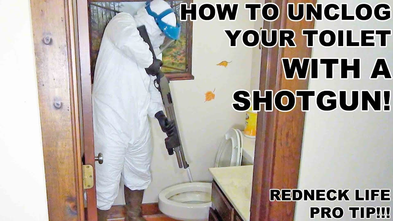 How to Unclog Your Toilet with a Shotgun! - YouTube