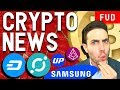 Has Bitcoin Hit Bottom? Icon Partners Samsung, Huawei Crypto Phones, UpBit $REP $XLM $DASH