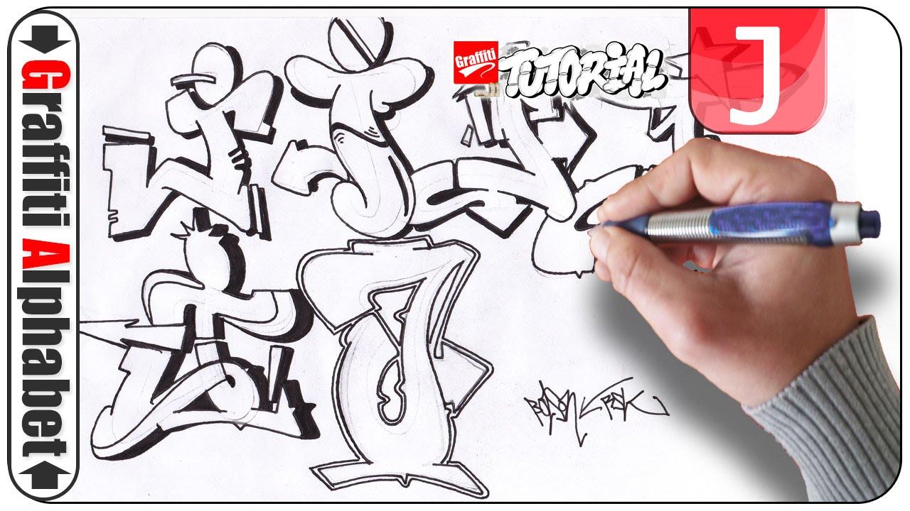 Graffiti Alphabet Letra J - Buchstabe J - Letter J - YouTube