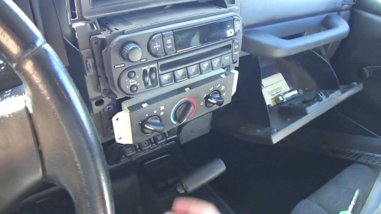 diy car stereo install in a jeep tj youtube jeep wrangler tj stabilizer bar jeep wrangler tj dash wiring harness [ 1280 x 720 Pixel ]