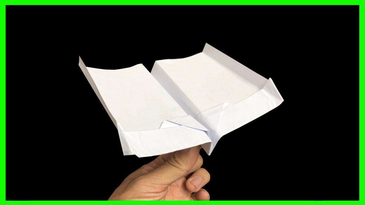 How to make paper boomerang airplane ver 88 | Cách gấp máy bay boomerang bay mãi không rơi.