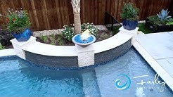 Small Yard Transitional Pool and Spa Resort Fly By