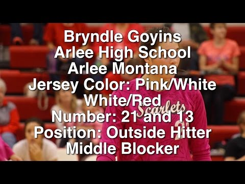 Bryndle Goyins - Arlee High School Volleyball 2015