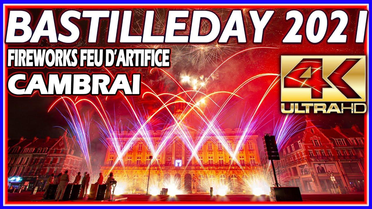 ⁽⁴ᴷ⁾ Fireworks Bastille day 2021 Cambrai, France - Feu D'artifice - P O K 2.0 Lux Factory -