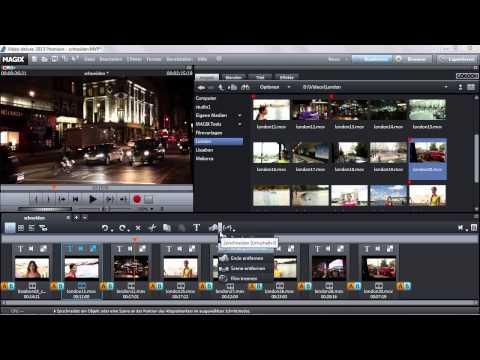 Schneiden im Storyboard - MAGIX Video deluxe 2013
