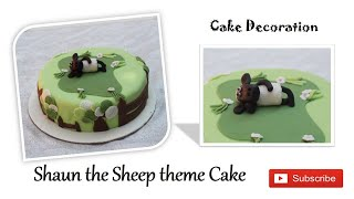 Shaun the Sheep cakeDesigner CakeCustomized Fondant cakeShaun the sheep theme cake#tag cakery