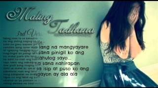 Repeat youtube video Maling Tadhana - Chris Line Jr.Crown & Sonny-Jay (Official Lyrics)