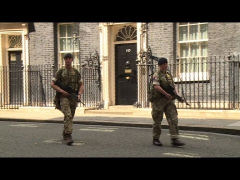 Britain patrol Downing Street as terror alert raised to maximum