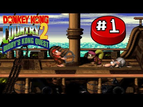 Donkey Kong Country 2, Part 1:  Diddy and Dixie's Date - Button Jam