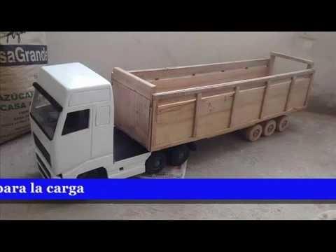 Camiones hechos en madera youtube for Modelos de barcitos hecho en madera