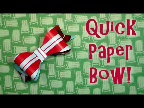 Quick Bow Made From Leftover Wrapping Paper!