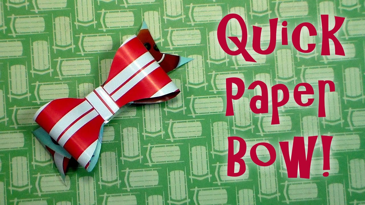 Quick Bow Made From Leftover Wrapping Paper! - YouTube