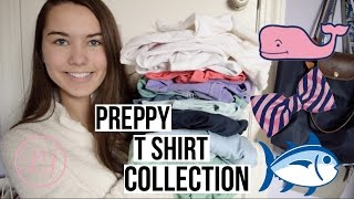 PREPPY + COLLEGE T SHIRT COLLECTION! 2016