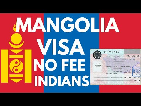 Mangolia Visa No Fee Indian Passport Holder Documents Immigration.