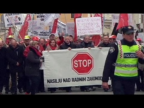 Croatia: protest held over labour law changes