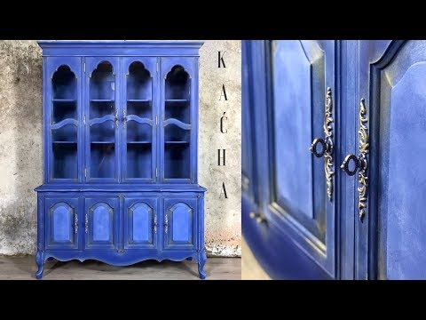 French Provincial China Cabinet Makeover With Chalk Paint