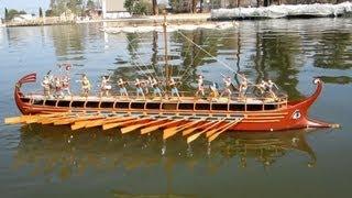 48 Oar Bireme Rows to Sea