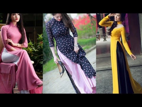 áo Dài Dress Ll Stylish Ao Dai Dress Collection Ll Vietnam Long Kurti With Pant