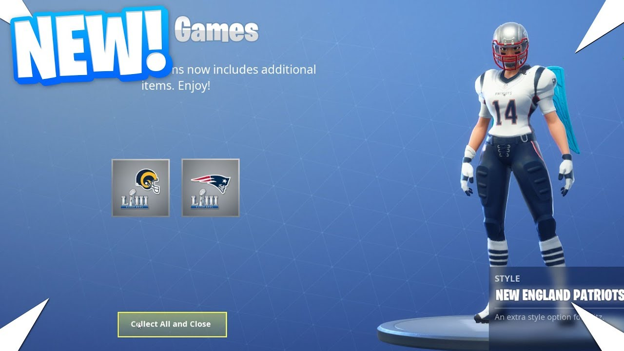 Download NEW FREE NFL SKIN VARIANTS FOR THE SUPER BOWL 2019 ADDED TO FORTNITE!