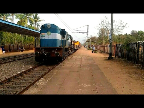 Express, Super fast, Departmental & Tanker train passing through Uppala in Kasaragod