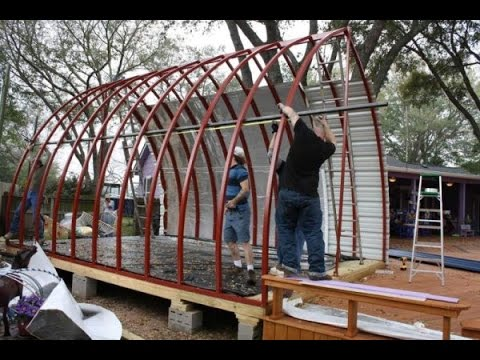 Tiny Arched Cabins Youtube