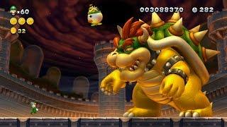 New Super Luigi U 100% Walkthrough Part 8 World 8 (8-1, 8-2, 8-3, 8-4, 8-C, 8-F) + Final Boss/Ending