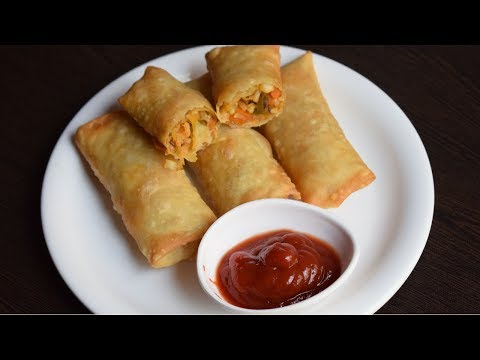 Noodle Spring Rolls Recipe - Spring Rolls With Homemade Sheets- Easy & Quick Snack Recipe