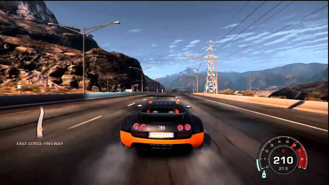 NFS Hot Pursuit | Bugatti Veyron Grand Sport | TopSpeed HD - YouTube