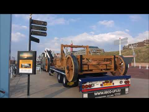 De zeilwagen van simon stevin  ivm historische feest aan zee11-5 -2018