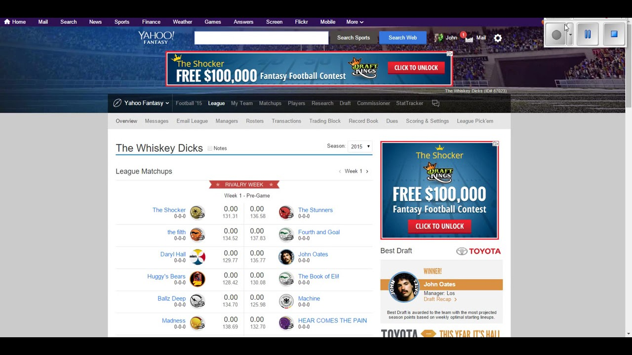 Yahoo! Fantasy Football: How To Change Team Name & Logo ...