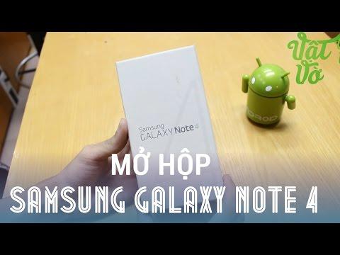 [Review dạo] Mở hộp Samsung Galaxy Note 4 bản thương mại màu đen