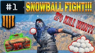 Blackout Snowball Fight! Attempting a High Kill Win w/ Snowball Finisher?!